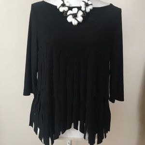 Connie K fringe top